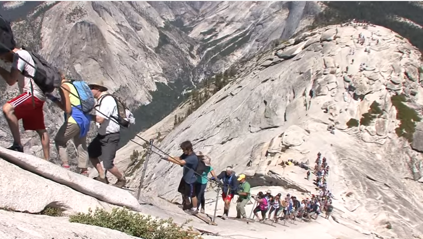 half dome hiking_cable