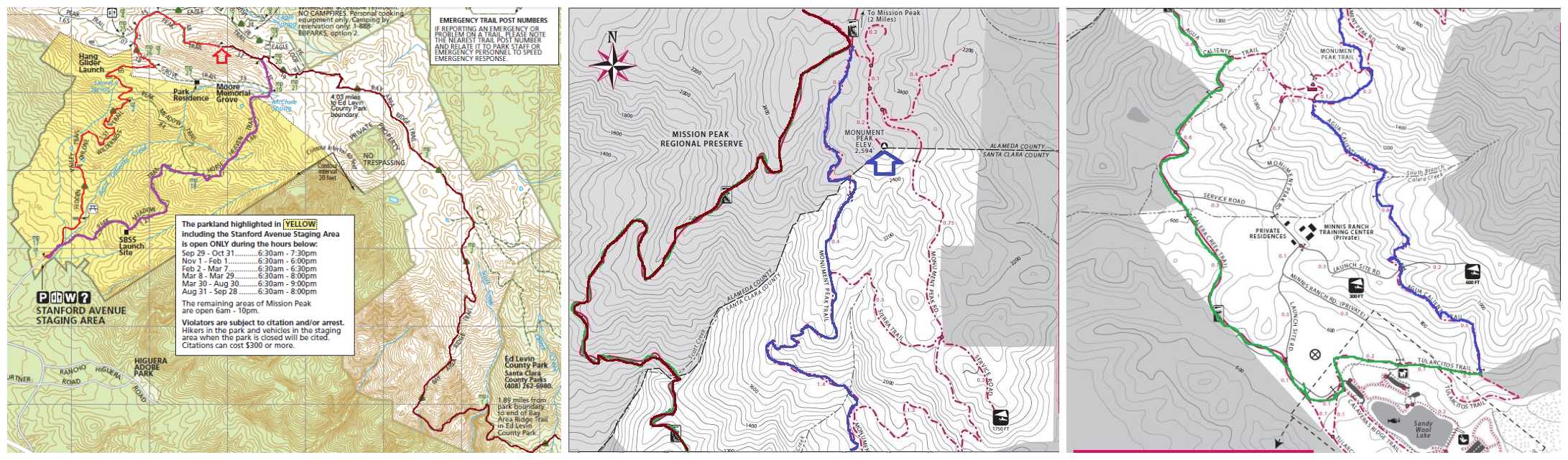mission peak-Milpitas trail map