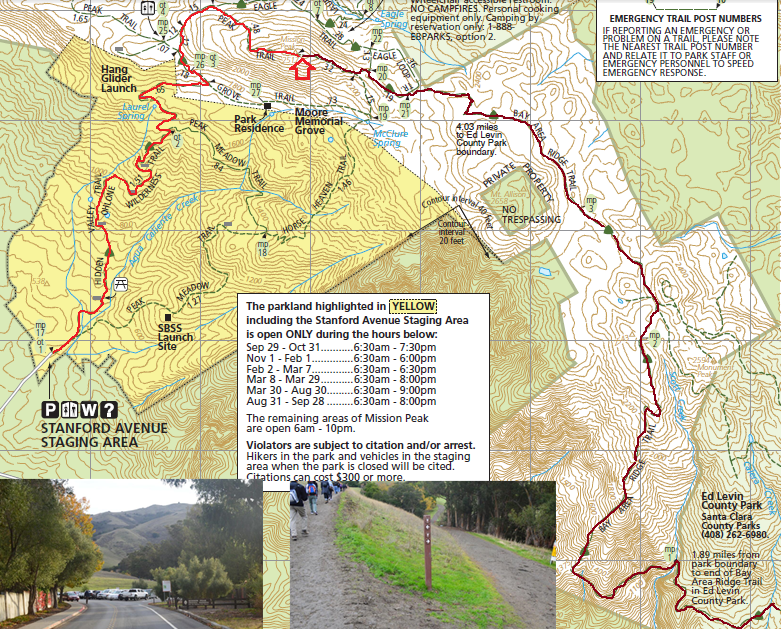 mission peak_trail map