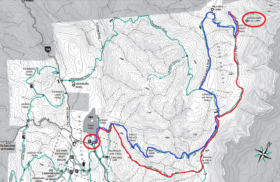 Joseph D. Grant County Park_hiking map