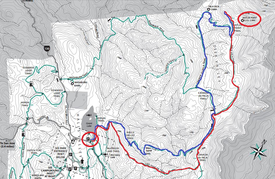 Joseph D. Grant County Park_hiking map