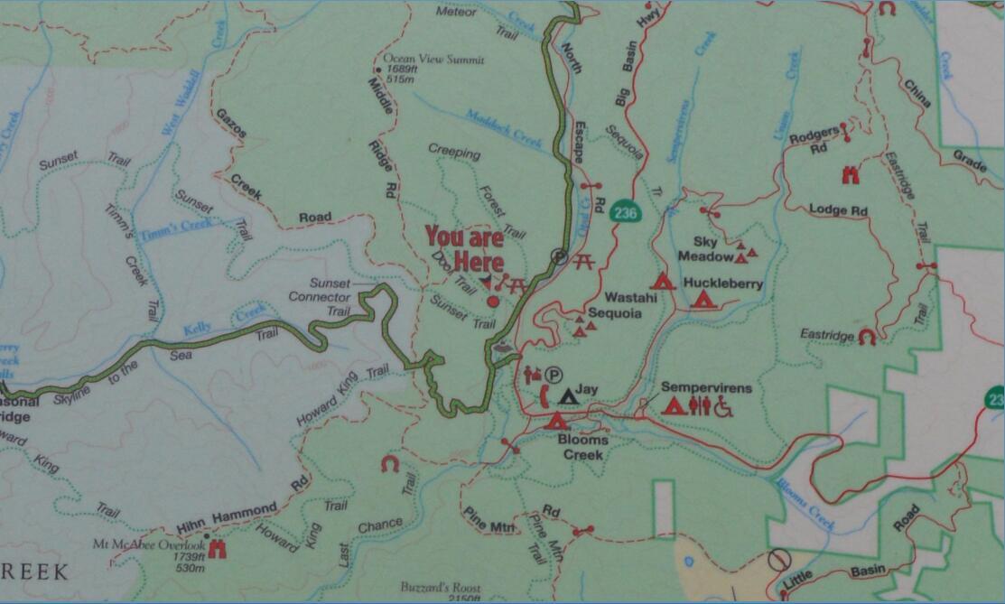 Big Basin Redwoods State Park Berry Creek Falls Loop70
