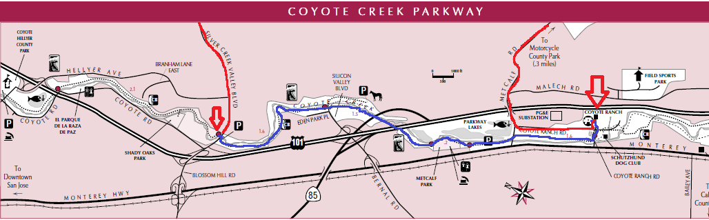 Coyote Creek Parkway_trail map