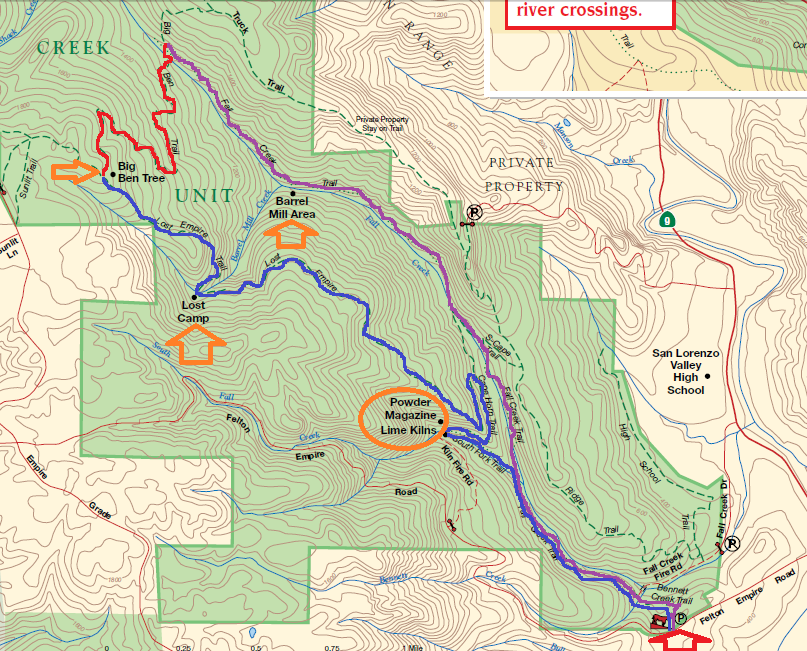 Henry Cowell Redwoods State Park_hiking map